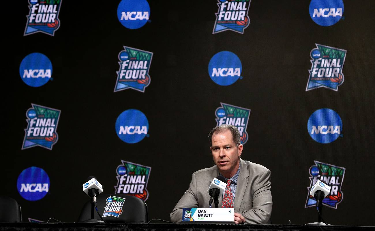 MINNEAPOLIS, MINNESOTA - APRIL 04: Senior Vice President of Basketball for the NCAA Dan Gavitt speaks to the media ahead of the Men's Final Four at U.S. Bank Stadium on April 04, 2019 in Minneapolis, Minnesota. (Photo by Maxx Wolfson/Getty Images)