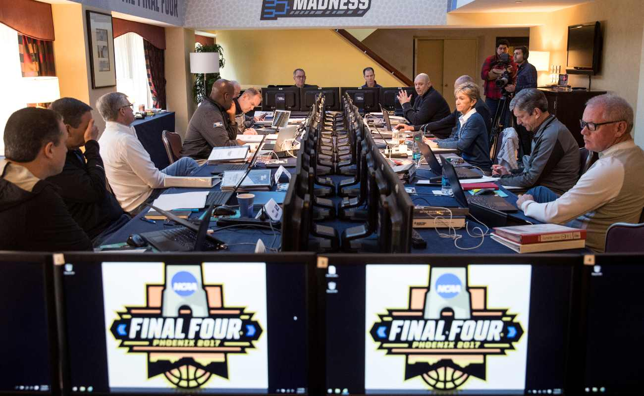 NEW YORK, NY - MARCH 8: The NCAA Basketball Tournament Selection Committee meets on Wednesday afternoon, March 8, 2017 in New York City. The committee is gathered in New York to begin the five-day process of selecting and seeding the field of 68 teams for the NCAA MenÕs Basketball Tournament. The final bracket will be released on Sunday evening following the completion of conference tournaments. (Photo by Drew Angerer/Getty Images)