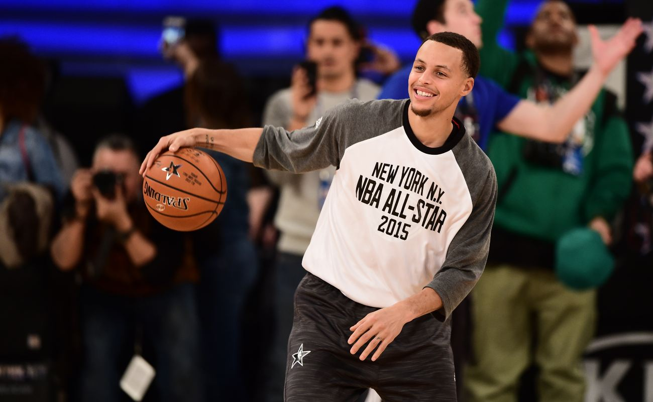NEW YORK, NY - FEBRUARY 15: Steph Curry after the 64th NBA Allstar Game at Madison Square Garden on February 15, 2015 in New York City. (Photo by Benjamin Solomon/Getty Images)