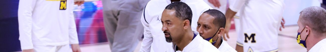 Head coach Juwan Howard of the Michigan Wolverines walks off the court after being ejected in the game against the Maryland Terrapins during the second half in the quarterfinals of the Big Ten men's basketball tournament at Lucas Oil Stadium on March 12, 2021 in Indianapolis, Indiana. (Photo by Justin Casterline/Getty Images)