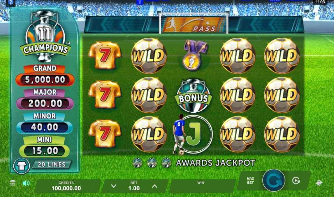 11 Champions online slot by DGC.