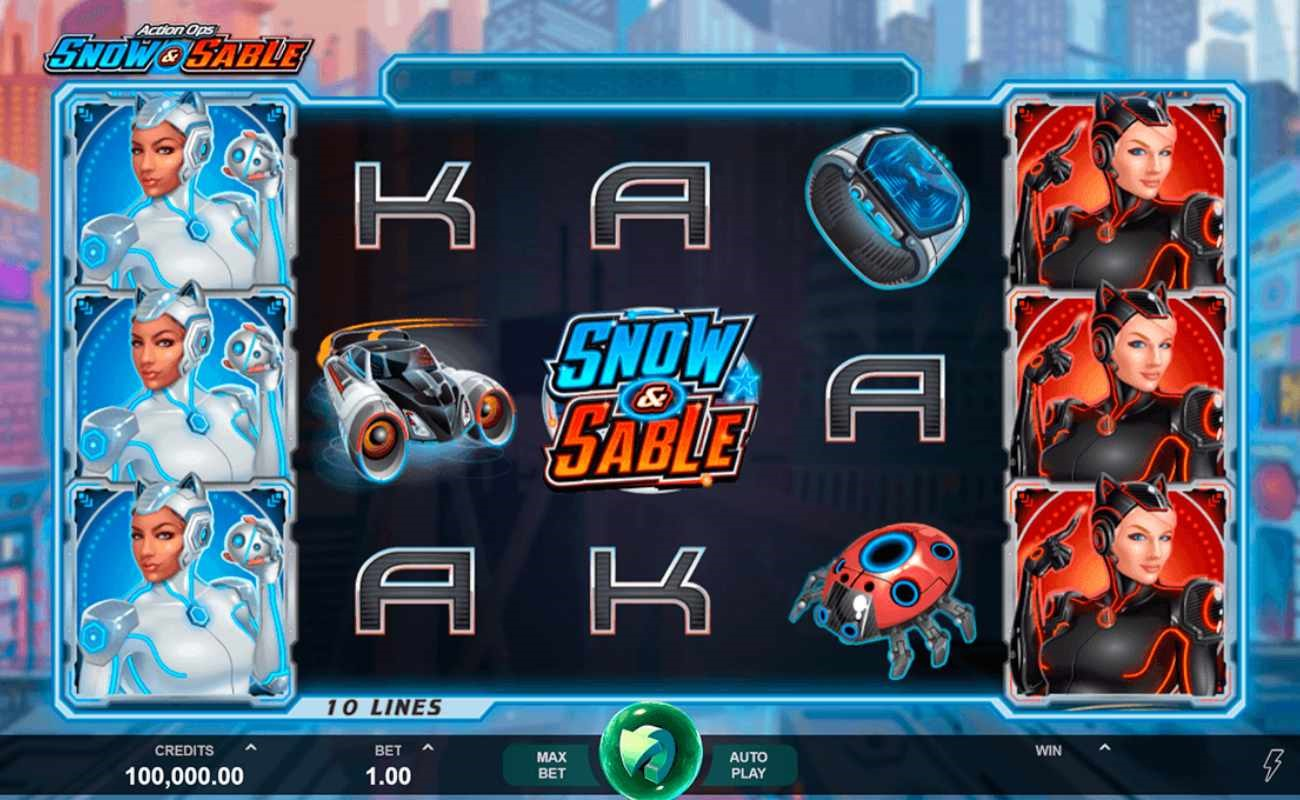 Action Ops Snow & Sable online slot by DGC.