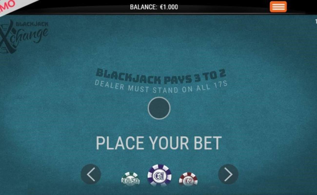 Blackjack Xchange online casino game.