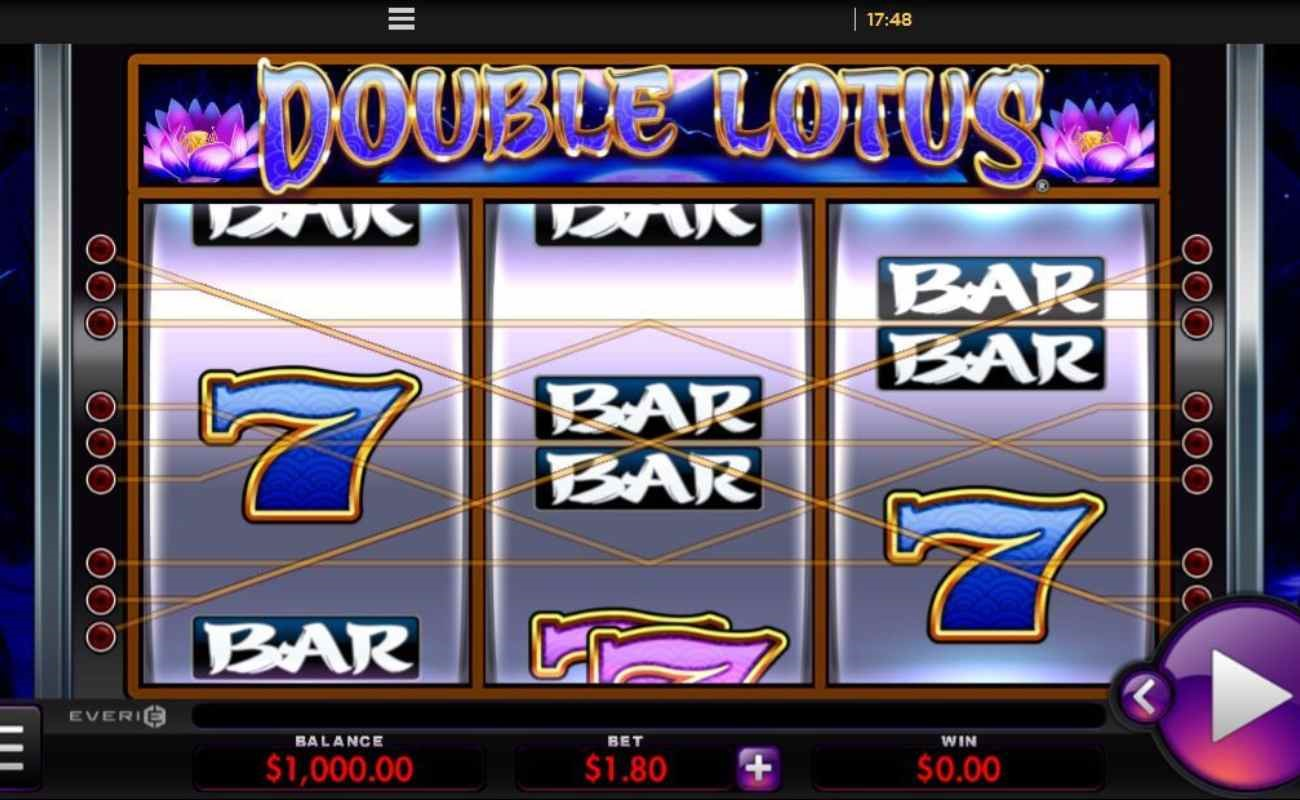 Double Lotus online slot by Everi.
