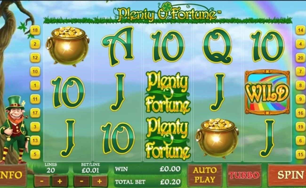 Plenty O' Fortune online slot by Playtech.
