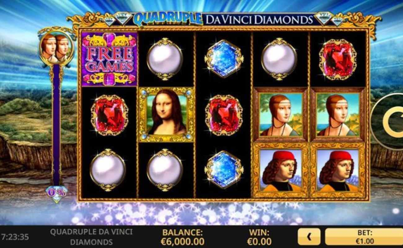Quadruple Da Vinci Diamonds online slot by High 5 Games.