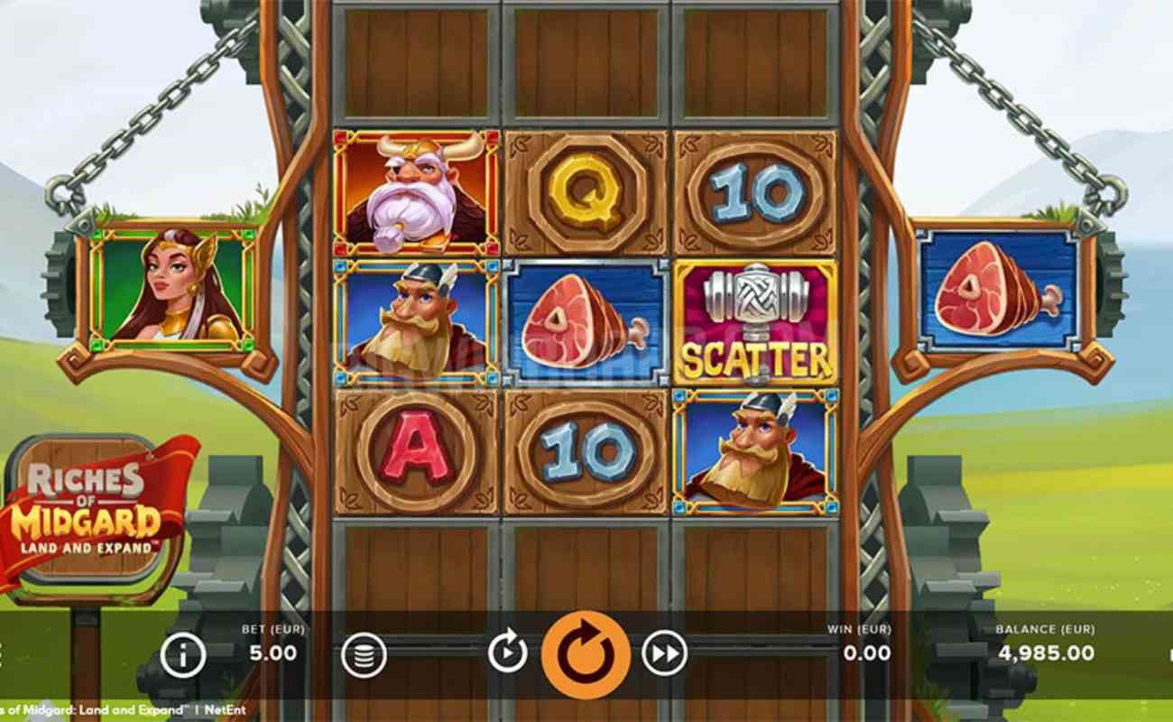 Riches of Midgard: Land and Expand online slot by NetEnt.