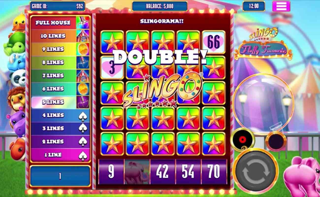 Slingo Fluffy Favourites online casino game by Slingo.