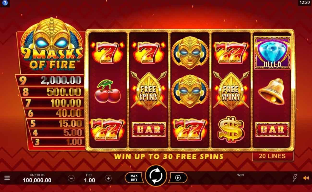 9 Masks of Fire online slot by DGC.