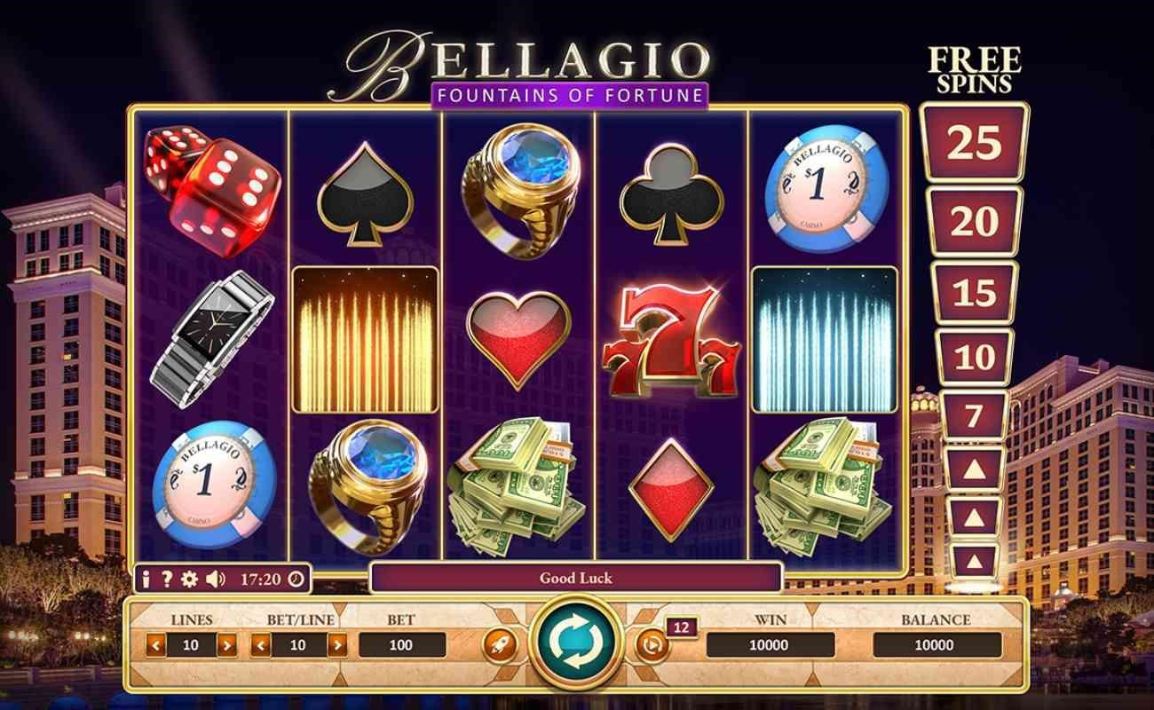 Bellagio Fountain of Fortune online slot by GVC.