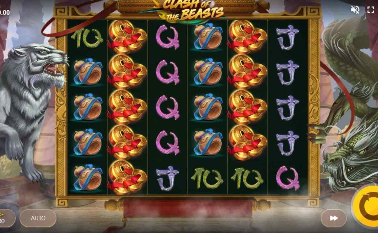Clash of the Beasts online slot by Red Tiger.