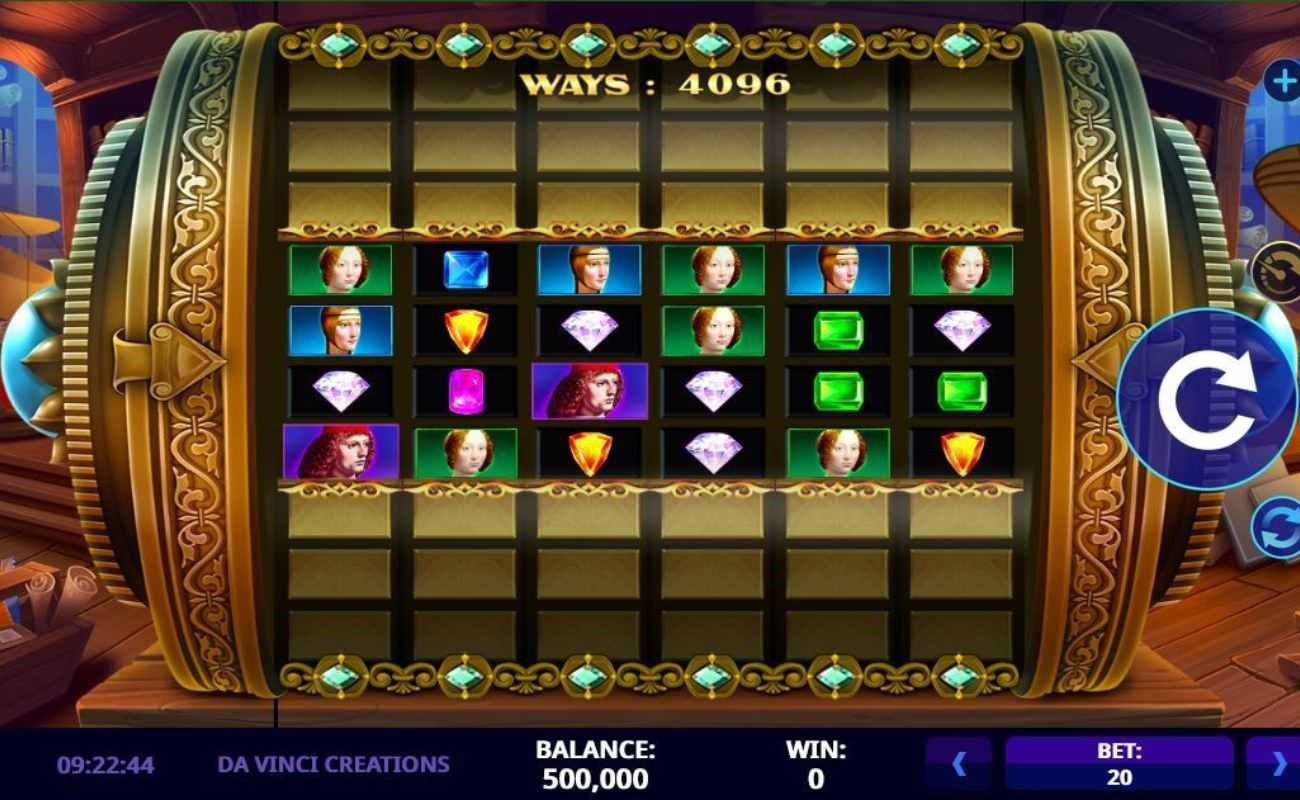 Da Vinci Creations online slot by High 5 Games.