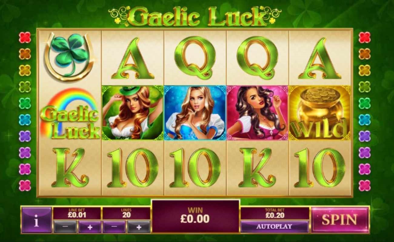 Gaelic Luck online slot by Playtech.