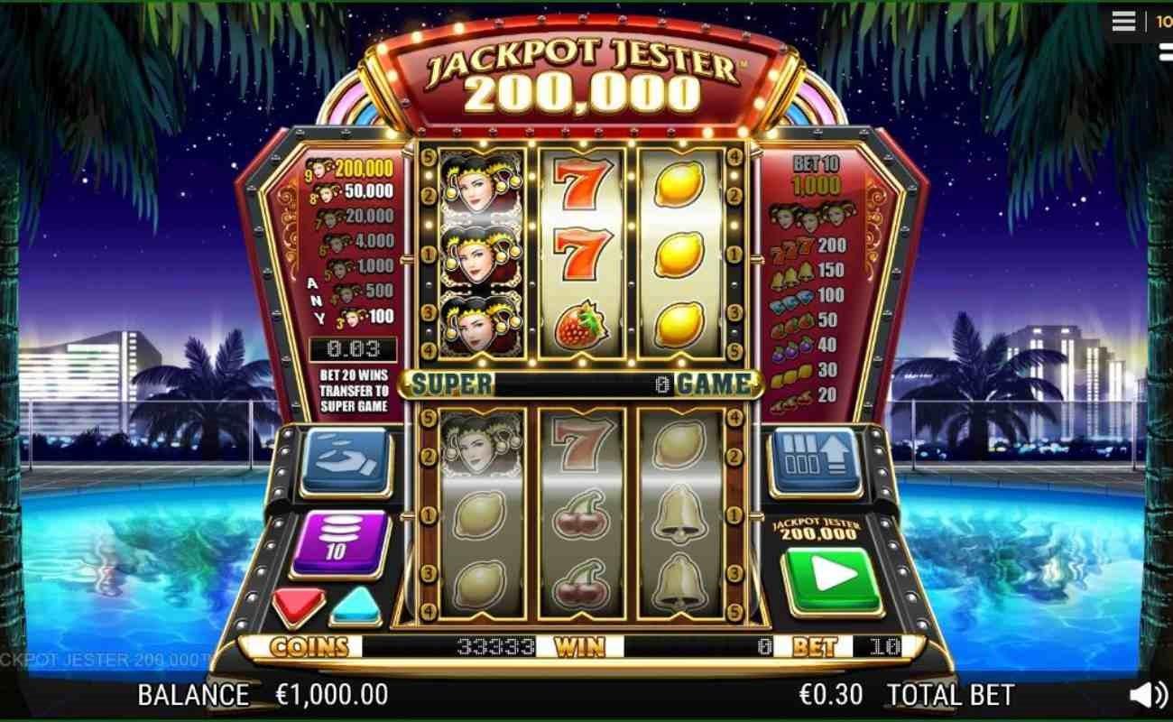 Jackpot Jester 200,000 online slot by NYX.