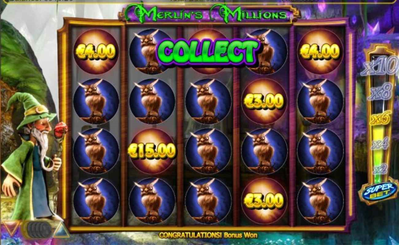 Merlin's Millions Superbet online slot by SG Digital.