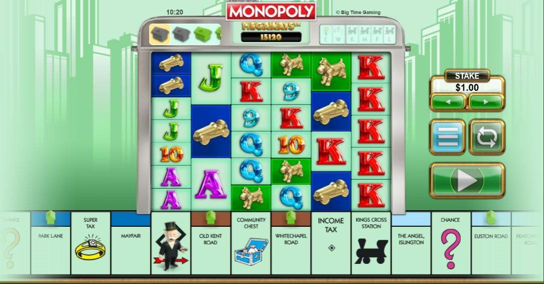 Monopoly Megaways online slot by Big Time Gaming.