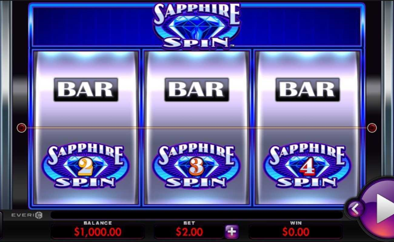 Sapphire Spin online slot by Everi.