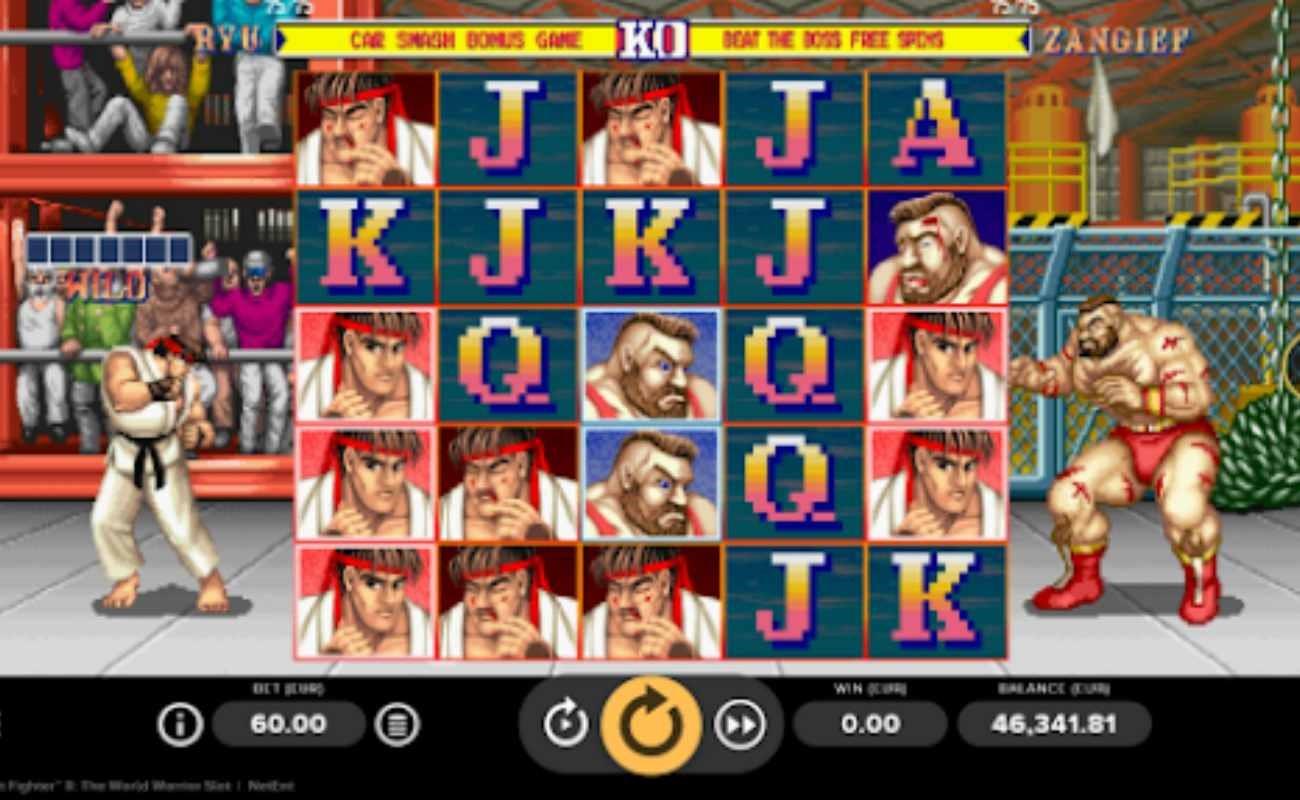 Street Fighter II: The World Warrior online slot by NetEnt.