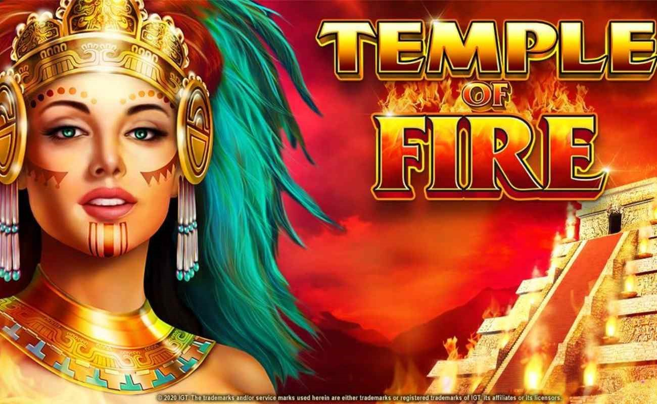 Temple of Fire online slot by IGT.