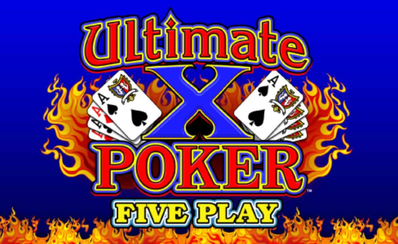 Ultimate X Five Play Video Poker online casino game by IGT.