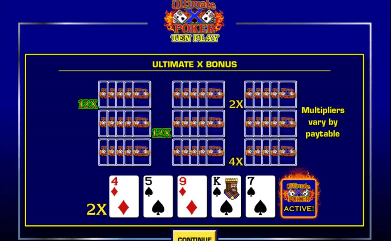 Ultimate X Ten Play online casino game by IGT.