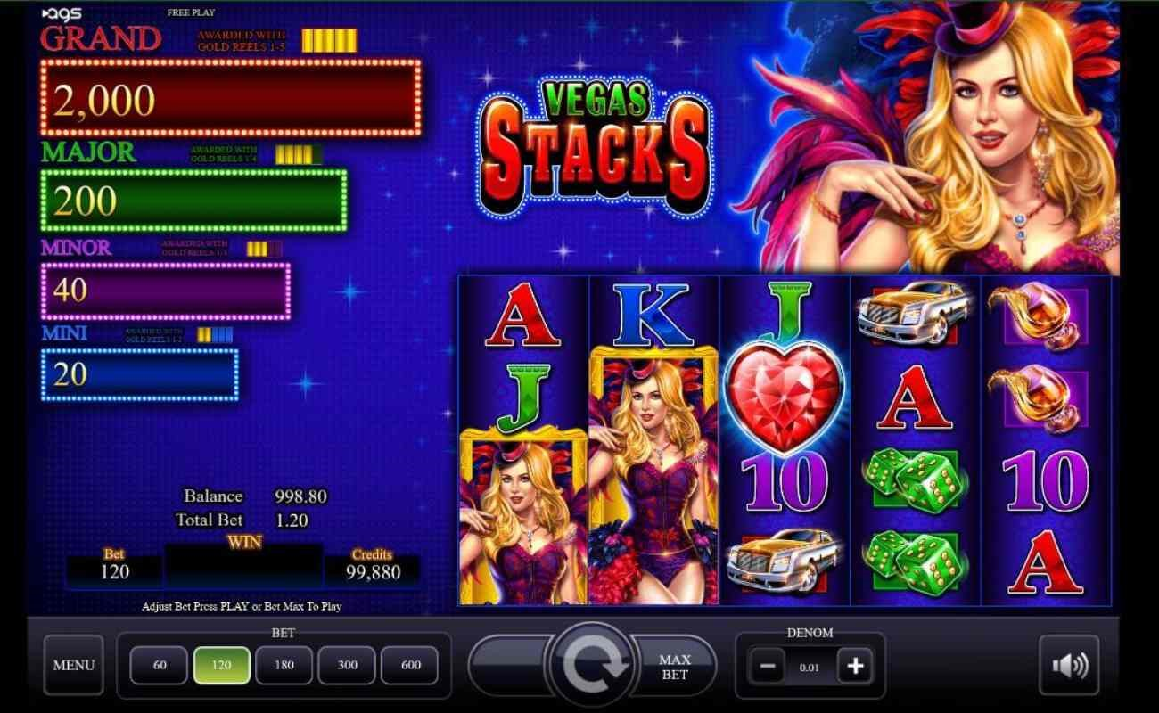 Vegas Stacks online slot by AGS.
