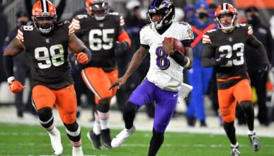 Lamar Jackson Ravens Browns