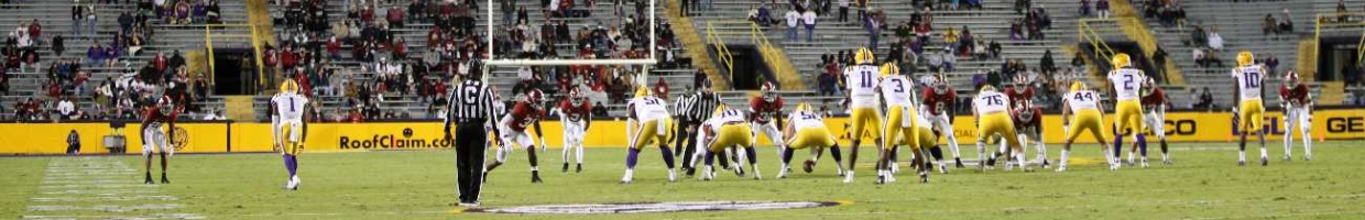 The Alabama Crimson Tide play the LSU Tigers at Tiger Stadium on Dec. 5, 2020, in Baton Rouge, Louisiana. (Photo by Chris Graythen/Getty Images)