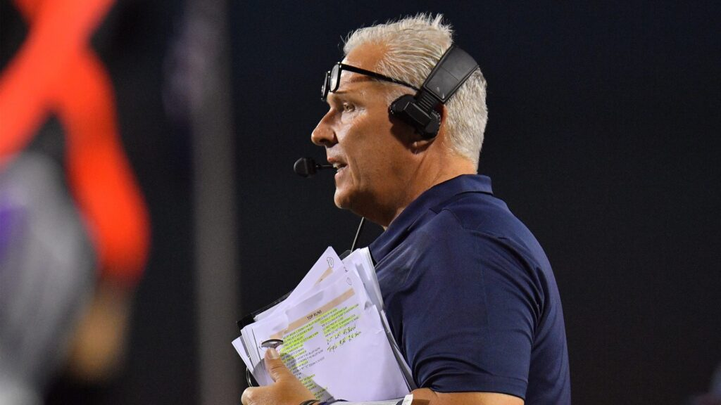 LAS VEGAS, NV - SEPTEMBER 08: Head coach Dana Dimel of the UTEP Miners looks on during his team's game against the UNLV Rebels at Sam Boyd Stadium on September 8, 2018 in Las Vegas, Nevada. (Photo by Sam Wasson/Getty Images)